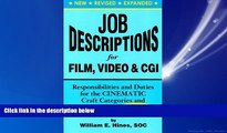 For you Job Descriptions for Film, Video   Cgi (Computer Generated Imagery): Responsibilities and