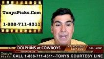 Dallas Cowboys vs. Miami Dolphins Free Pick Prediction NFL Pro Football Odds Preview 8-19-2016