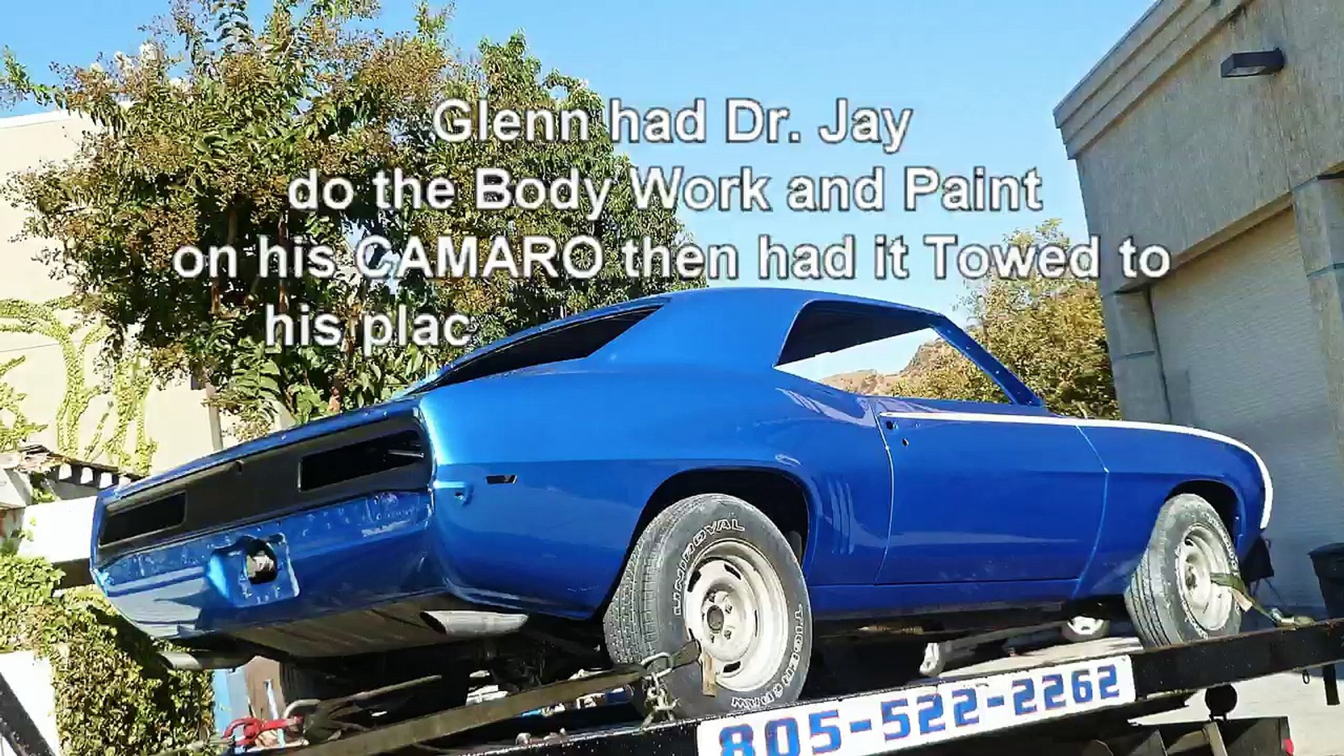 1969 Chevy Camaro Rust Repair and Car Show Paint Refinish