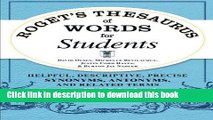 PDF Download] ROGET'S THESAURUS OF SYNONYMS AND ANTONYMS