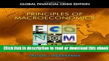 Principles of Macroeconomics: Global Financial Crisis Edition (with Global Economic Crisis GEC