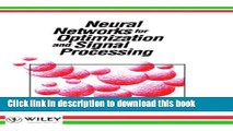 [Download] Neural Networks for Optimization and Signal Processing Paperback Collection