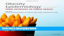 Books Obesity Epidemiology: From Aetiology to Public Health Free Online