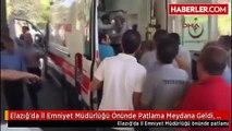 Elazığ'da İl Emniyet Müdürlüğü Önünde Patlama Meydana Geldi, Olay Yerine Çok Sayıda Ambulans Sevk...