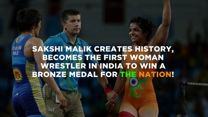 SAKSHI MALIK WINS INDIA's 1st MEDAL AT RIO