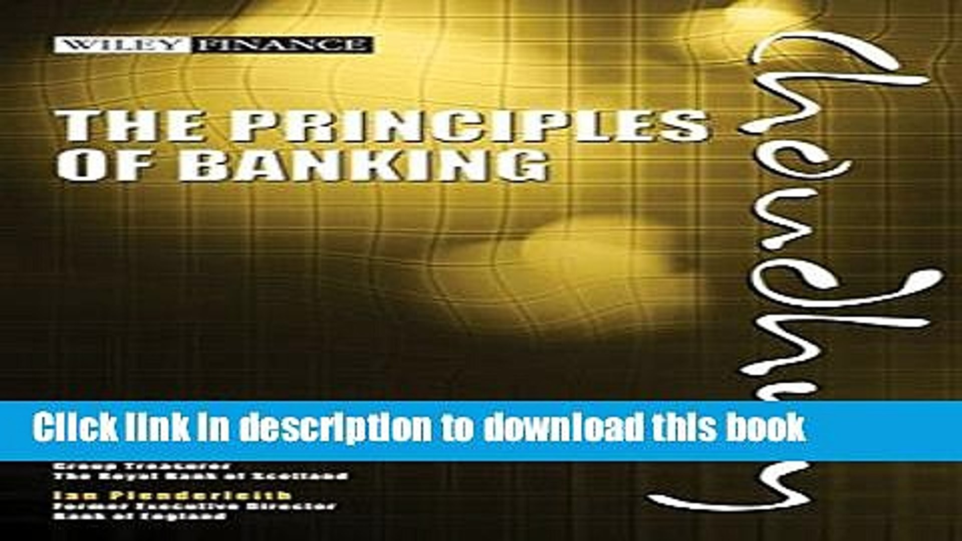 [Popular] The Principles of Banking Kindle Online