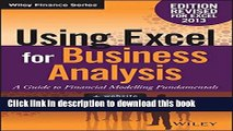 [Popular] Using Excel for Business Analysis: A Guide to Financial Modelling Fundamentals Hardcover