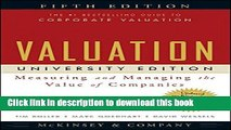 [Popular] Valuation: Measuring and Managing the Value of Companies, University Edition Hardcover