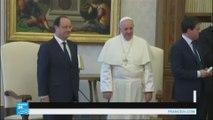 هولاند يلتقي البابا في الفاتيكان