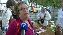 A Bastille, 12 tonnes de fruits et légumes frais pour sensibiliser les Français
