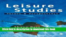 [Popular] Leisure Studies: Themes and Perspectives Paperback Online