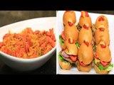 برجر دجاج - مافن البيض بالخضروات والكريب - مكرونة بالهوت دوج | الشيف حلقة كاملة