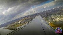 Timelapse entre Paris et Ajaccio en Corse en avion avec décollage et atterrissage