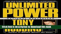 [Popular] Unlimited Power : The New Science Of Personal Achievement Hardcover Free