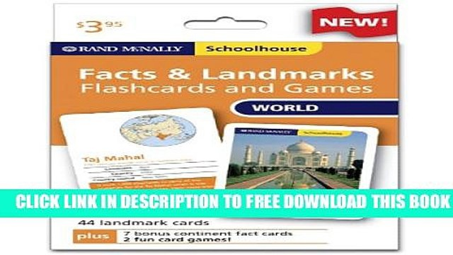 Collection Book Rand Mcnally Schoolhouse World Facts   Landmarks Flashcards And Games