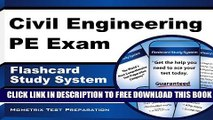 New Book Civil Engineering PE Exam Flashcard Study System: Civil Engineering PE Test Practice
