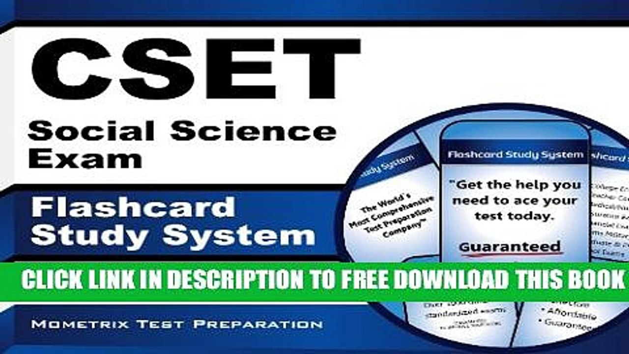 New Book CSET Social Science Exam Flashcard Study System: CSET Test  Practice Questions Review