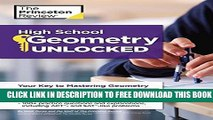 New Book High School Geometry Unlocked (High School Subject Review)