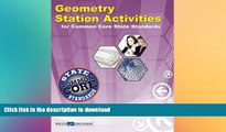 READ PDF Geometry Station Activities for Common Core Standards (Station Activities for Common Core