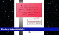 READ book  Evaluation and Implementation of Distance Learning: Technologies, Tools and