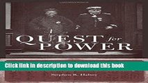 New Book Quest for Power: European Imperialism and the Making of Chinese Statecraft