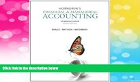 Full [PDF] Downlaod  Horngren s Financial   Managerial Accounting: The Managerial Chapters (4th