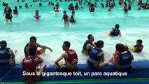 Chine: vacances à la mer dans le «plus grand bâtiment du monde»