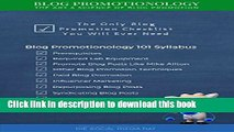 [Read PDF] Blog Promotionology - The Art   Science of Blog Promotion Download Free