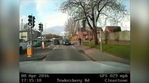Dashcam footage of125 mile per hour police car chase