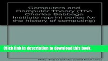 [Read PDF] Papers of John von Neumann on Computers and Computing Theory (Charles Babbage Institute