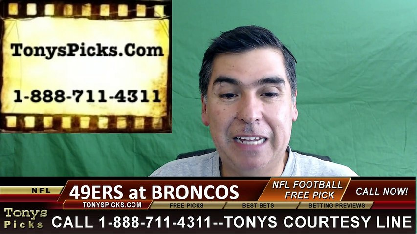 Denver Broncos vs. San Francisco 49ers Free Pick Prediction NFL Pro Football Odds Preview 8-20-2016