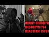 ANGRY GRANDPA DESTROYS PS4! REACTION!!! (STD)