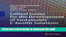 [PDF] Critical Issues for the Development of Sustainable E-health Solutions (Healthcare Delivery