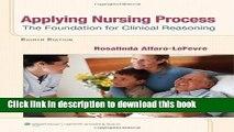 [PDF] Applying Nursing Process: The Foundation for Clinical Reasoning Popular Online