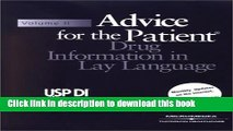 Collection Book Usp Di: Advice for the Patient (USP DI: v.2 Advice for the Patient)