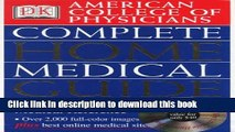 Collection Book American College of Physicians Complete Home Medical Guide (with Interactive Human