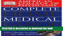 New Book American College of Physicians Complete Home Medical Guide (with Interactive Human