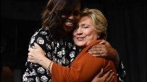 Michelle Obama et Hillary Clinton ensemble sur scène pour la première fois