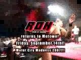 ROH In Detroit September 14th Ring Of Honor Wrestling