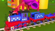 Le train Tchou-Tchou et les solides géometriques - partie 1. Pour les enfants de lécole primaire