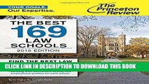 Ebook The Best 169 Law Schools, 2015 Edition (Graduate School Admissions Guides) Free Read