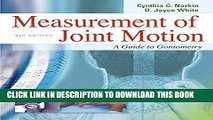 Ebook Measurement of Joint Motion : A Guide to Goniometry, 4th Edition Free Read