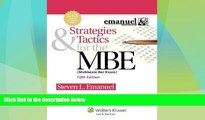 Big Deals  Strategies   Tactics for the MBE, Fifth Edition (Emanuel Bar Review)  Best Seller Books
