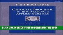 Ebook Grad Guides BK5: Engineer/Appld Scis 2007 (Peterson s Graduate Programs in Engineering