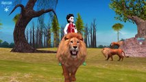 Frozen Elsa Riding on Lion King Kong Elephant And Singing Finger Family Nursery Rhymes For Children