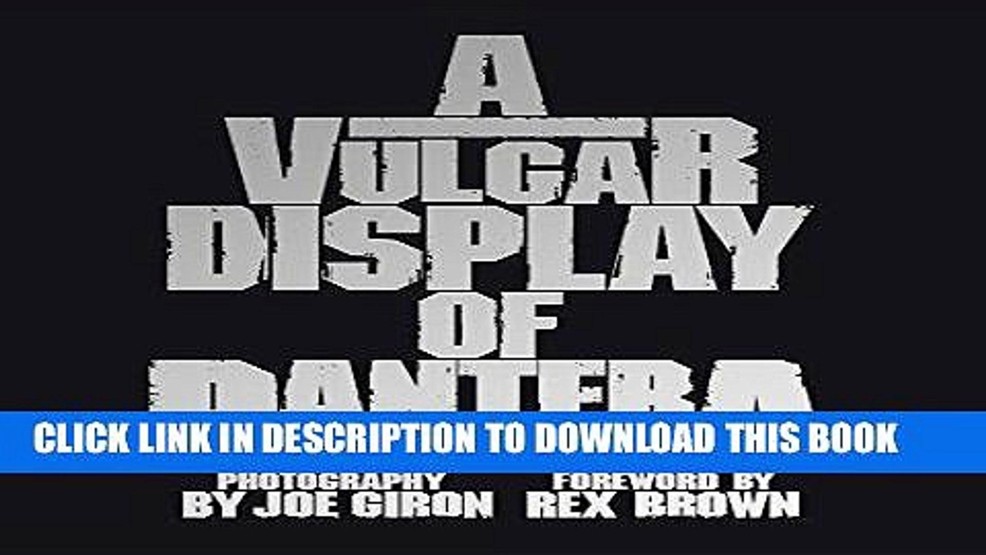 VULGAR BAIXAR CD POWER PANTERA DISPLAY