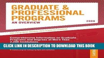 Best Seller Grad Guides Book 1:  Grad/Prof Progs Overvw 2009 (Peterson s Graduate   Professional