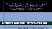 Ebook Grad Guides Bk5: Engineer/Appld Sci 2003 (Peterson s Programs in Engineering   Applied