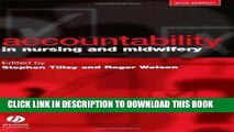 [READ] EBOOK Accountability in Nursing and Midwifery by Tilley, Stephen, Watson, Roger