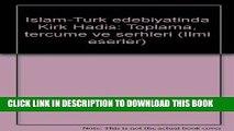 Read Now Islam-Turk edebiyatinda Kirk Hadis: Toplama, tercume ve serhleri (Ilmi eserler) (Turkish
